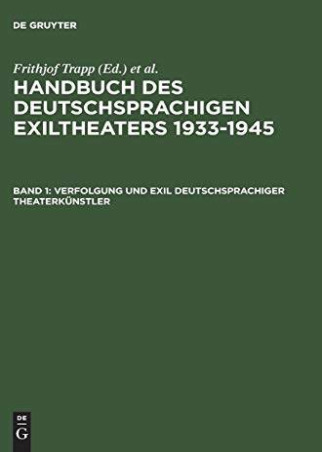9783598113741: Verfolgung und Exil deutschsprachiger Theaterk�nstler