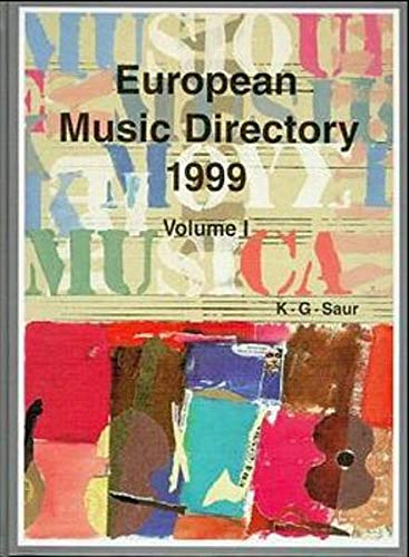 9783598114113: European Music Directory