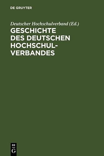 9783598114403: Geschichte des Deutschen Hochschulverbandes (German Edition)