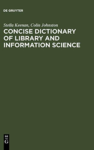 9783598115080: Concise Dictionary of Library and Information Science