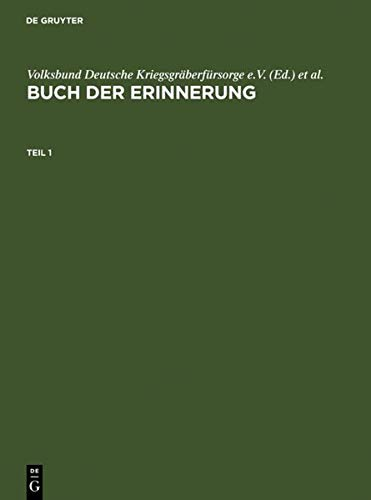 9783598116186: Buch Der Erinnerung / Book of Remembrance