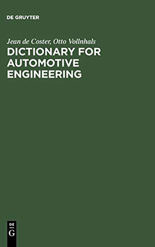 9783598116247: Dictionary for Automotive Engineering