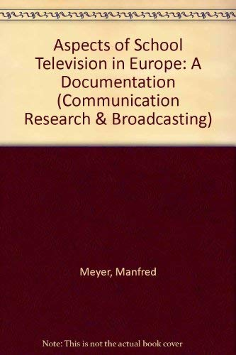 9783598202094: Aspects of School Teaching in Europe: A Documentation (Communication Research and Broadcasting)