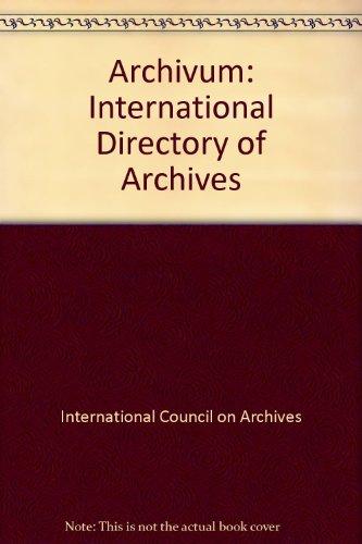 9783598212338: Archivum: International Directory of Archives