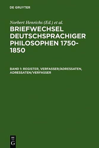 Briefwechsel deutschsprachiger Philosophen 1750-1850