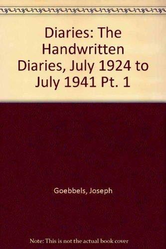 9783598219153: Die Tagebücher von Joseph Goebbels 2:1 Juli - September 1941 (German Edition)