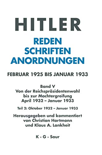 9783598220029: Oktober 1932 - Januar 1933 (German Edition)