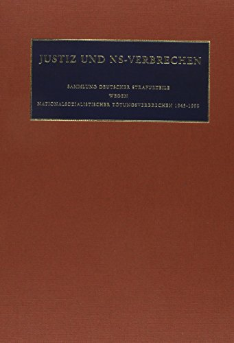9783598238215: Justiz und NS-Verbrechen: Nazi Crimes on Trial: Vol. 23 ff.: Vol. 30: Die vom 29.04.1968 bis zum 11.05.1968 ergangenen Strafurteile. Lfd. Nr. 685 - 694 (German Edition)