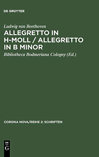 9783598242700: Allegretto in h-Moll / Allegretto in B minor (Corona Nova/Reihe 2: Schriften)