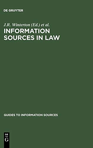 9783598244315: Information Sources in Law (Guides to Information Sources)