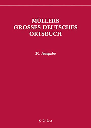 9783598246630: Müllers Grosses Deutsches Ortsbuch