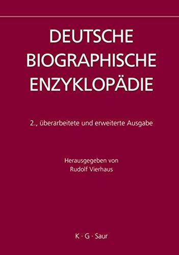 9783598250309: Deutsche Biographische Enzykeopadie, 2005-2007/dictionary of German Biography