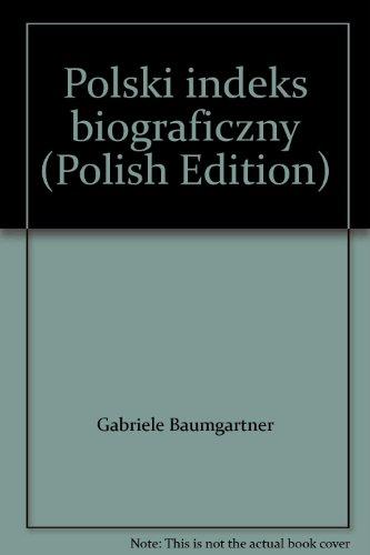 9783598327285: Polski indeks biograficzny (Polish Edition)