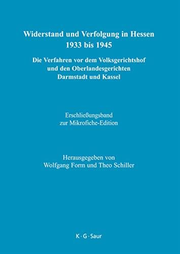 Widerstand und Verfolgung in Hessen 1933-1945 : Wolfgang Form; Theo