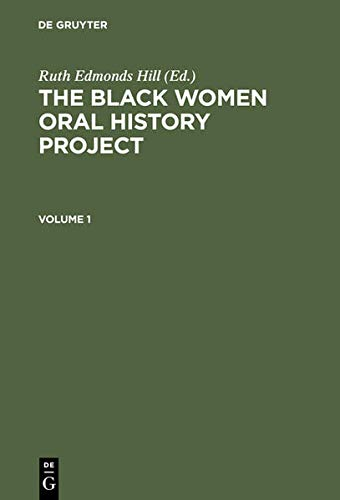 9783598413506: The Black Women Oral History Project. Cplt.