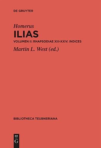 Rhapsodiae XIII-XXIV. Indices: Martin L. West