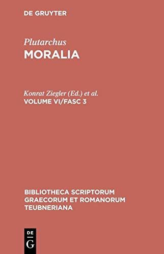 Moralia, vol. VI, fasc. 3: De musica,: Plutarchus