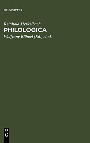 9783598774393: Philologica: Ausgewählte kleine Schriften (Bibliotheca Teubneriana)