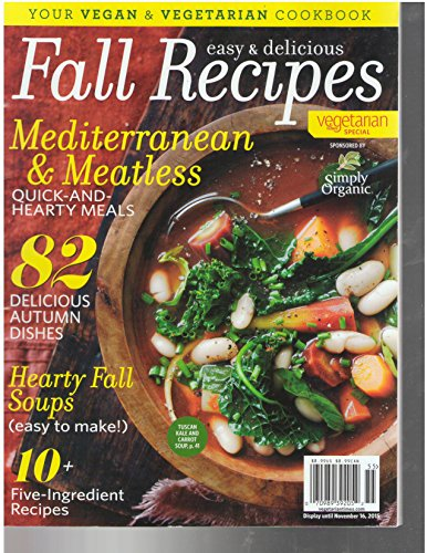 9783598809132: Easy and Delicious Fall Recipes 2015 Vegetarian Times Special