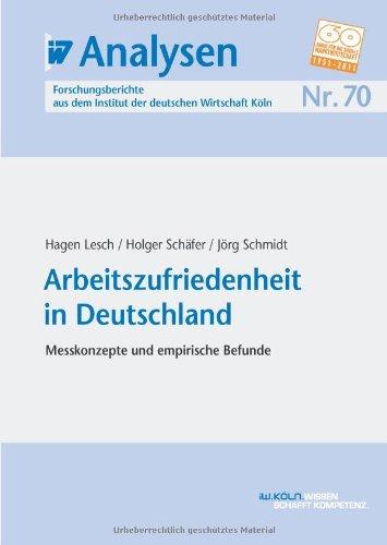 9783602148776: Arbeitszufriedenheit in Deutschland