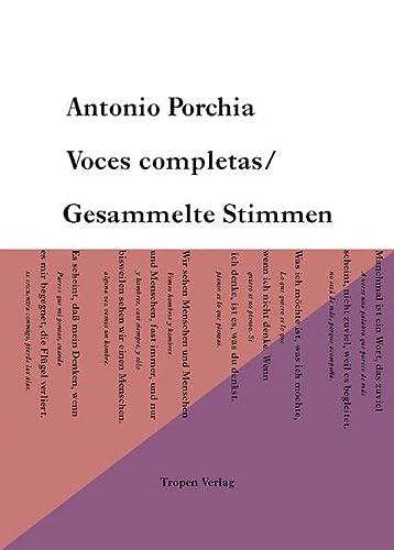 9783608500721: Voces Completas / Gesammelte Stimmen: Gesamtausgabe der Gedichte