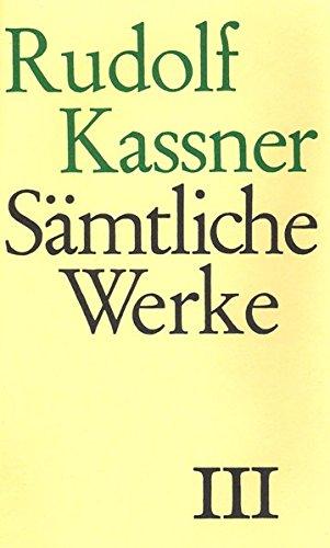 9783608932539: Sämtliche Werke 3: Schriften aus den Jahren 1910-1920