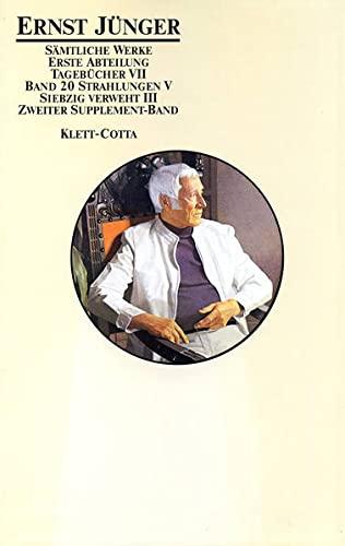Sämtliche Werke, 18 Bde. u. 4 Supplement-Bde., Bd.20, Strahlungen (3608934901) by Ernst Jünger