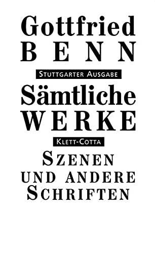 9783608936339: Sämtliche Werke - Stuttgarter Ausgabe / Szenen, Dialoge,