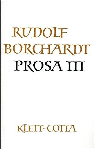 9783608938081: Gesammelte Werke in Einzelbänden / Prosa III
