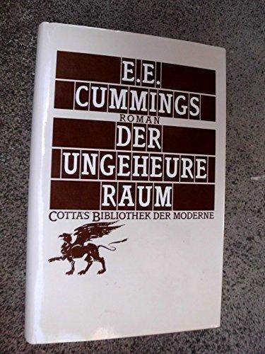 9783608951233: Der ungeheure Raum. Roman