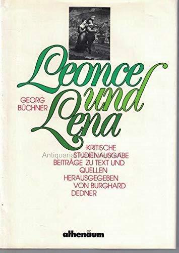 Leonce und Lena - Kritische Studienausgabe Beiträge: BÜCHNER, Georg und