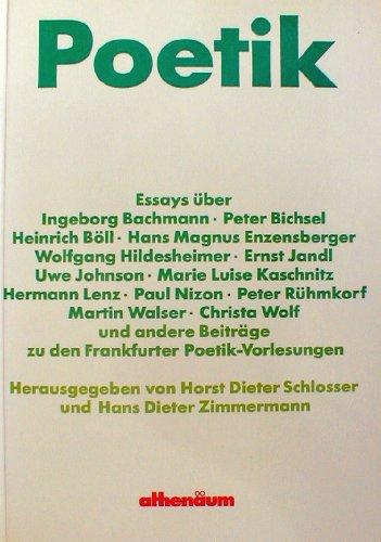 9783610089375: Poetik: Essays über Ingeborg Bachmann ... [et al.]