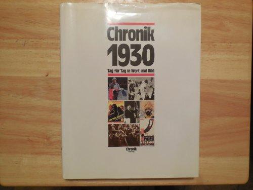 9783611000706: Chronik 1930