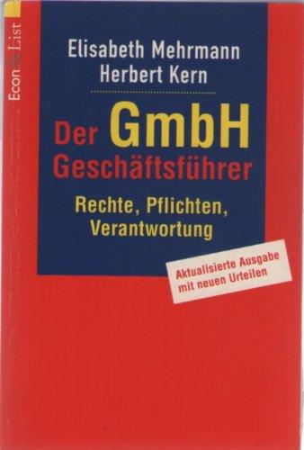 9783612213228: Der GmbH-Gesch�ftsf�hrer