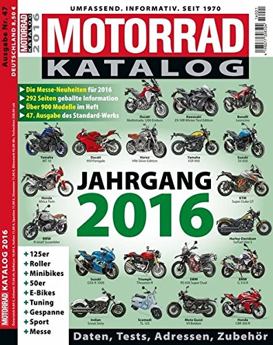 9783613307988: Motorrad-Katalog 2016