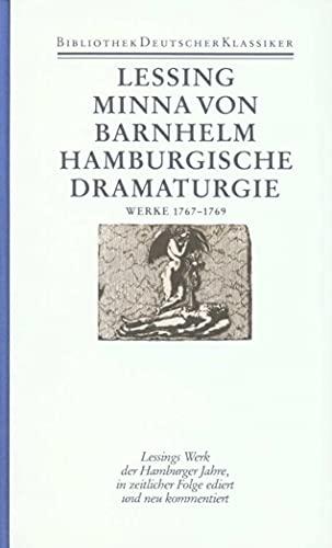 Werke 1767 - 1769 . Hrsg. von Klaus Bohnen: Lessing, Gotthold Ephraim:
