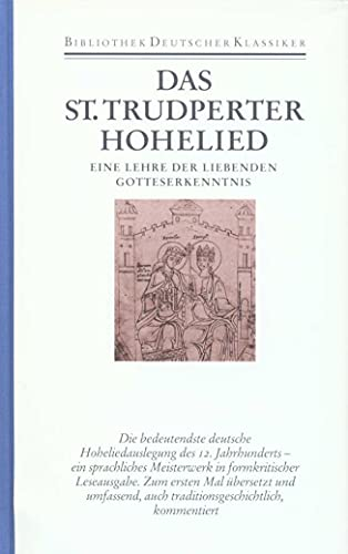 9783618660200: Das Sankt Trudperter Hohelied: Eine Lehre der liebenden Gotteserkenntnis: Bd. 2