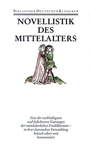 Novellistik des Mittelalters: Märendichtung (Hardback)