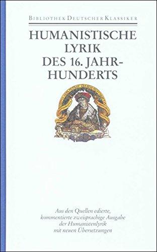 Humanistische Lyrik des 16. Jahrhunderts: Wilhelm K�hlmann