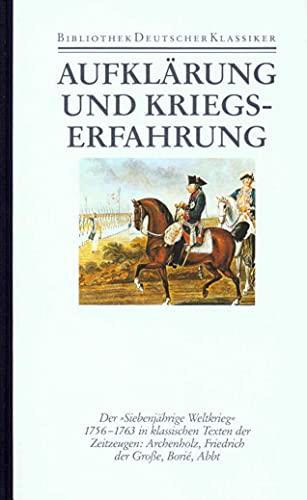 Aufklärung und Kriegserfahrung: Johannes Kunisch