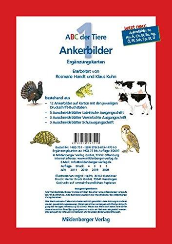 9783619147519: ABC der Tiere 1. Schuljahr, Ankerbilder, Ergänzungskarten