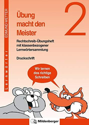 9783619244300: �bung macht den Meister 2. 2. - 4. Schuljahr. �bungsheft: 2. Schuljahr, Schulausgangsschrift