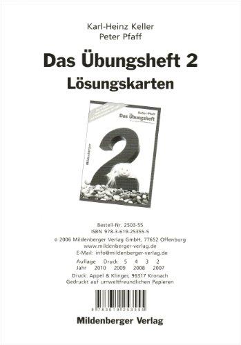 9783619253555: Das Mathebuch. Ausgabe für Baden-Württemberg /Berlin /Brandenburg /Bremen /Mecklenburg-Vorpommern /Niedersachsen /Nordrhein-Westfalen. Übungsheft 2: Lösungskarten