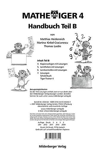 9783619453641: Mathetiger 4: Mathetiger 4. Handbuch Teil B (Livre en allemand)
