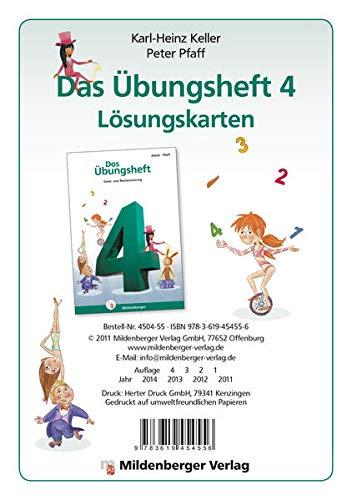 9783619454556: Mathematik-Training. Das Übungsheft 4: Lösungskarten zur Neubearbeitung
