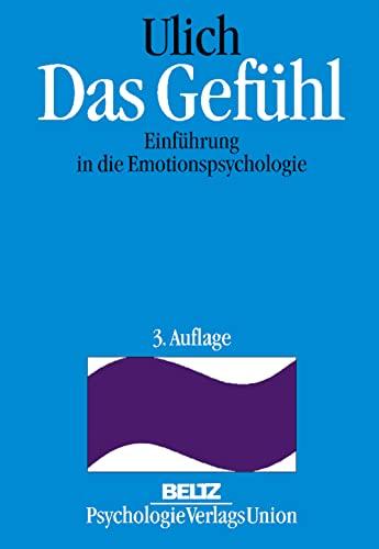 9783621272971: Das Gefühl. Einführung in die Emotionspsychologie (Book on Demand)