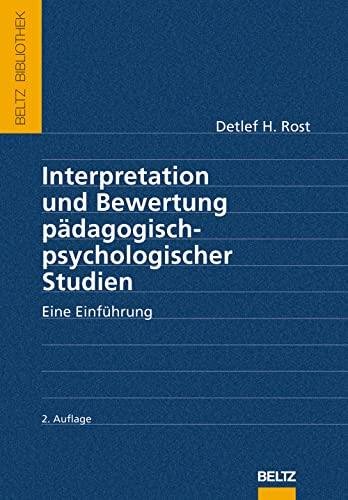 9783621276979: Interpretation und Bewertung pädagogisch-psychologischer Studien: Eine Einführung