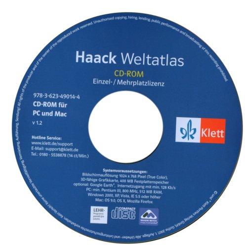 9783623490144: Haack-Weltatlas CD-ROM f�r Windows XP; 2000