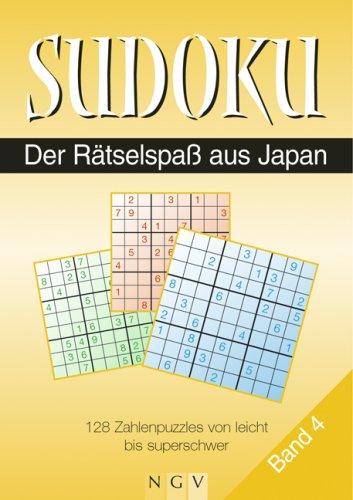 9783625115298: Sudoku. Der Rätselspaß aus Japan. Band 4: 128 Zahlenpuzzles von leicht bis mittelschwer