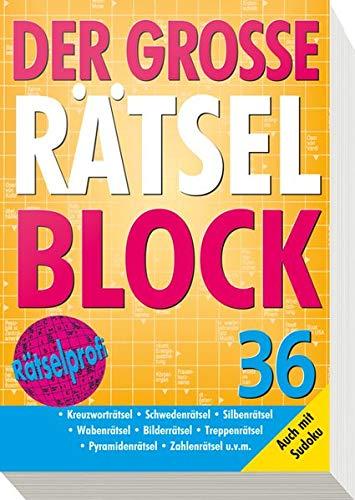 9783625136743: Der große Rätselblock 36: Auch mit Sudoku